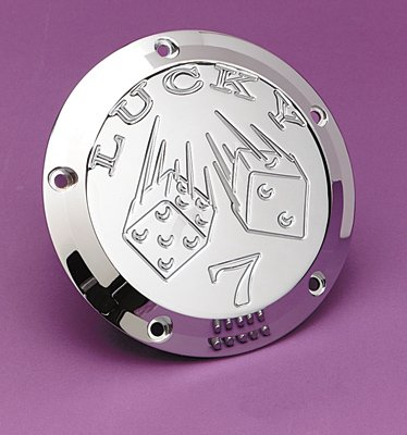 Covers Chrome Derby Billet (Joker Machine Lucky 7 Derby Cover 0699L)