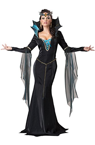 California Costumes Women's Evil Sorceress Adult, Black/Turquoise, Small