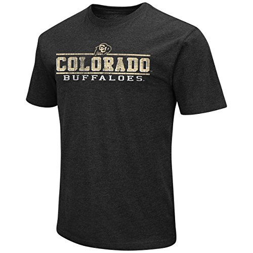 Colorado Buffaloes Adult Soft Vintage Tailgate T-Shirt - Black, X-Large