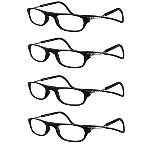 278713f6c68 Jangona 4 Pack Women Mens Reading Glasses Eyeglasses Eyewear Fashion Style  Magnetic Reading Glasses Adjustable Strap