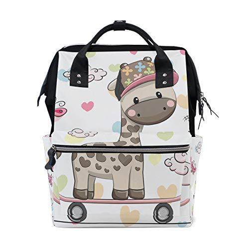 - Butterfly Giraffe Diaper Bag Backpack Mom Bag Casual Lightweight Large Capacity for Travel Mammy Women Girls