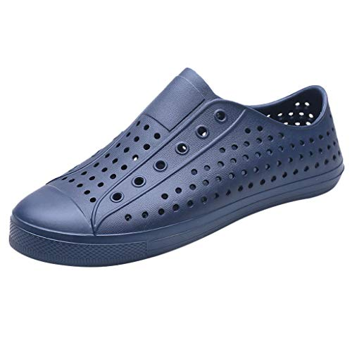 Sunhusing Summer Soft Bottom Lazy Beach Shoes Couple Hipster Sandals Unisex Hollow Hole Shoes Blue ()