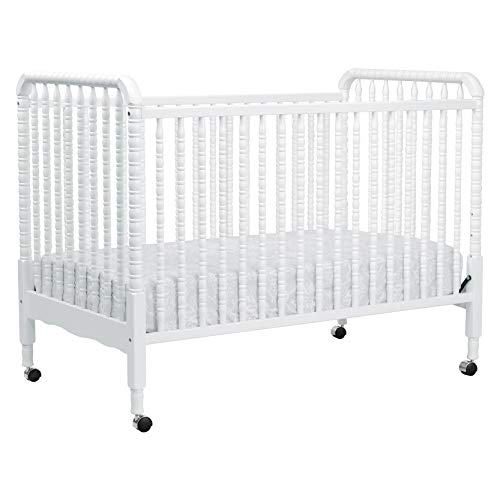 1 Iron Crib - DaVinci Jenny Lind 3-in-1 Convertible Portable Crib in White - 4 Adjustable Mattress Positions, Greenguard Gold