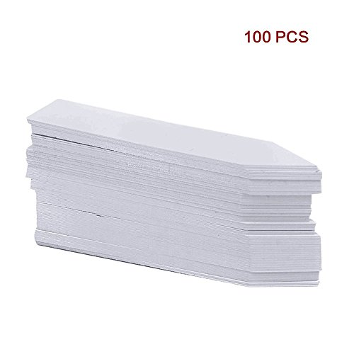 G2PLUS 100Stk. Mini Plastik Pflanzenstecker StecketikettenBeschriften Pflanzschilder Schilder 10CM * 2CM Sind Praktisch für Alle