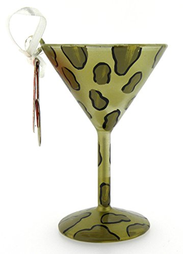 Lolita Mini-tini Martini Glass Ornament, Leopartini