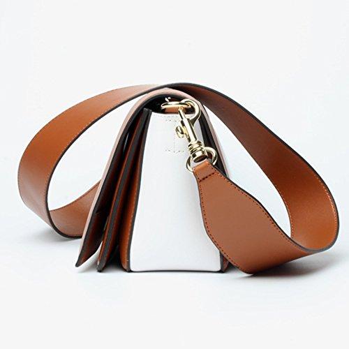B Cuadrado Cuero De Pequeño Paquete Moda Embrague Crossbody Color Mensajero Bolso Genuino Hombro Mujer Costura 4ndB6TO