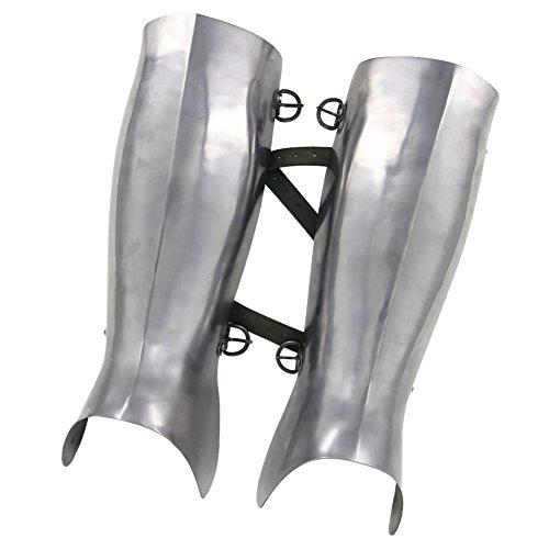 Knight Leg Armor (Ancient Greek Hoplite Greaves Protective Medieval 16g Functional Leg)