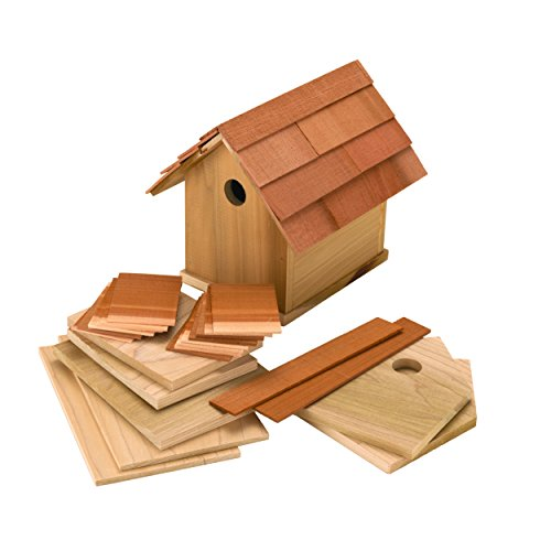 Quality Hardwood Barn Birdhouse Kit