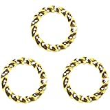 FANCY TWIST JUMP RINGS 16 gauge Free Shipping 50pcs Gold Plated 6mm