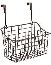 Spectrum 56224 Over The Cabinet Door Grid Basket, Medium, Bronze