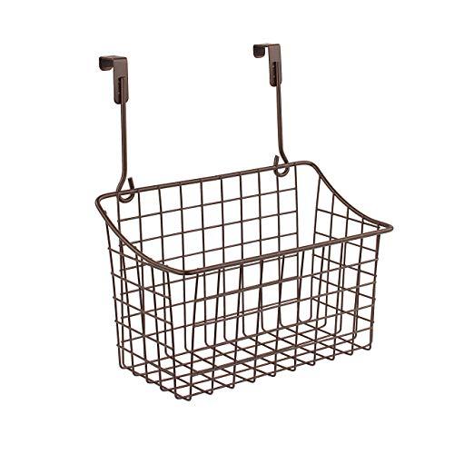 Spectrum Diversified Grid Storage Basket, Over the Cabinet, Medium, Bronze (Bathroom Shelves Storage Baskets)