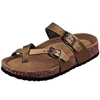 Deals on LA PLAGE Women Mayari Arch Support Cork Sandals