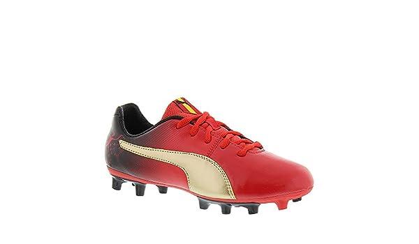 Puma Cesc V2 FG Jr Zapatillas (Poco Kid/Big Kid), Rojo (High Risk Red/Team Gold/Black), Niño Grande M: Amazon.es: Zapatos y complementos