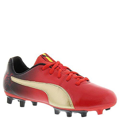 Puma Cesc V2 FG Jr Fibra sintética Zapatos Deportivos High Risk Red/Team Gold/Black