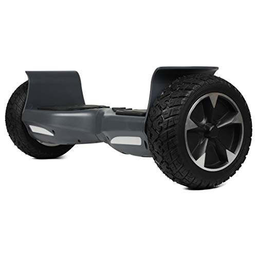 SISIGAD Off Road Hover Board, Bluetooth Hoverboard, All Terrain Rugged Hoverboard, 8.5 Inch Two-Wheel Self Balancing Hoverboard Electric Scooter for Adult Kids Gift UL2272 Certified