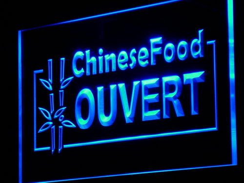 ADVPRO Cartel Luminoso j156-b Chinese Food Ouvert Open Shop ...