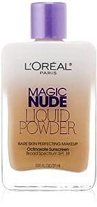 12. L'Oreal Paris Magic Nude Liquid Powder Bare Skin Perfecting Makeup SPF 18, 0.91 Ounce