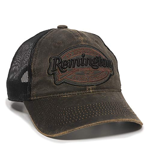 (Remington Weathered Dark Brown Mesh Hunting Hat)