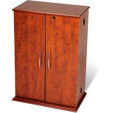 Deluxe 2 Door Storage Cabinet Finish: Cherry - 2 Door Cherry Desk