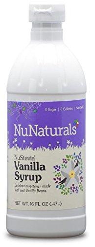NuNaturals - NuStevia - Vanilla Syrup - 16 Ounce