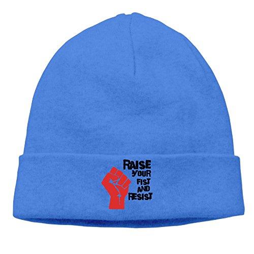Azul Raise Beanie tu y resistir real puño Hat wR7aq4