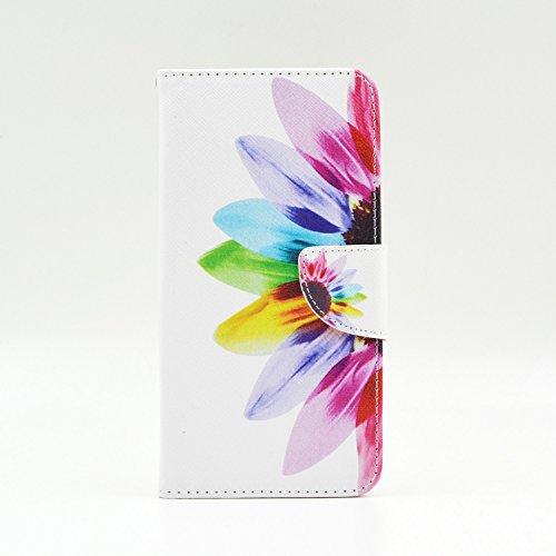 G3s Case G3 VIGOR Case LG G3 Mini Kickstand Case,Tribe-Tiger Duplex Beautiful Sunflowers Design Premium Pu Leather Magnet Flip Folio Wallet [Built-in Card Slots] Kickstand Case Cover for LG G3 Mini LG G3 VIGOR Sprint LG G3s(Not Fit For LG G3) - Sprint Lg Vigor