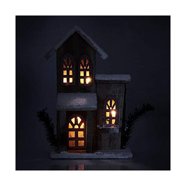 com-four® Decorazione Natalizia con Luce LED - Decorazioni in Legno, casa illuminata - Decorazioni per la tavola [la Selezione Varia!] (01 Pezzi - la Selezione Varia) 2 spesavip