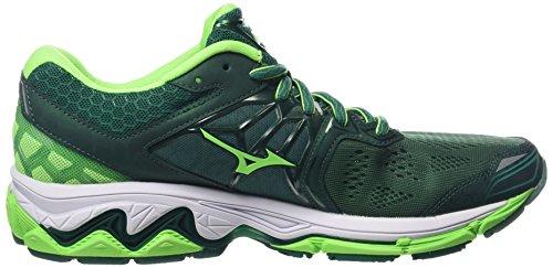 Mizuno Herren Wave Horizon Laufschuhe Mehrfarbig (Evergreen / Green Gecko / White)