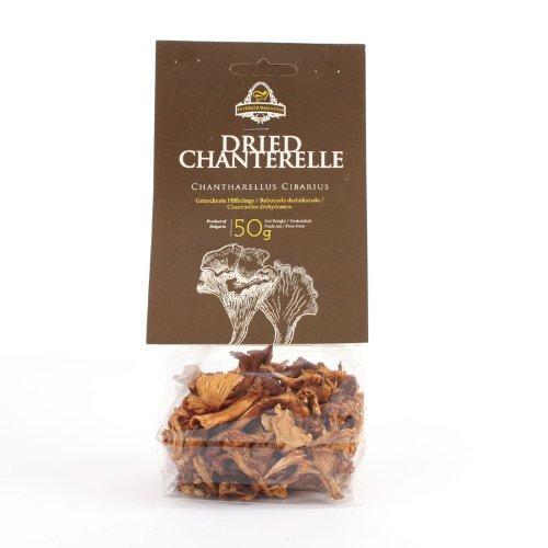 Dried Chanterelle Mushrooms | 50 Gr. / 1.7 Oz.in Transparent Plastic Bag | European Finest Chanterelle harvested in (Chanterelle Mushrooms)
