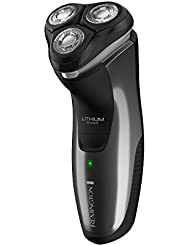 Remington R5100 Series Electric Rotary Shaver with Quick Charge Capability & Titanium Blades, Gray/Black, PR1362