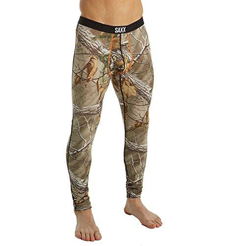 Saxx Mens Ultra Long John Fly Boxers Underwear 2X-Large Realtree Extra/Black