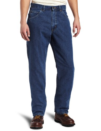 Key Apparel Men's Relaxed Fit Enzyme Wash Ring Spun 6 Pocket Denim Jean, Denim, 38x30