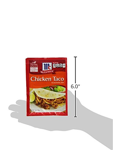 McCormick Chicken Taco Seasoning Mix, 1 oz, Create the Perfect Chicken Taco Fiesta, No MSG or Artificial Flavors, Works Great with Beef, Turkey, Beans and Veggies Too! by McCormick (Image #9)