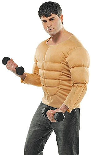 Halloween Muscle Shirt (Amscan Mens Size Muscle Halloween Costume Shirt)