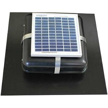 Solar Roof Vent   Solar Attic Fan   Solar RVOblaster With Black Vent