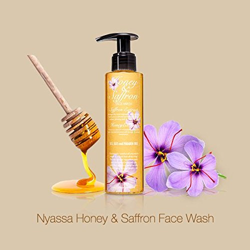 Nyassa Honey & Saffron Face Wash with natural extracts, 145ml