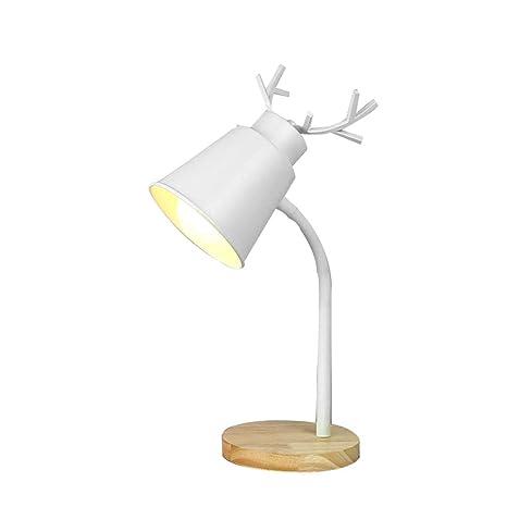 ZGHOME Lámpara De Mesa Dormitorio Brillo Regulable, Diseño ...