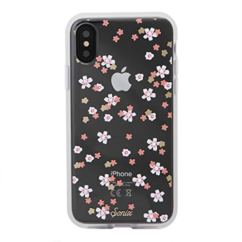 (Sonix Rhinestone Floral Bunch (Crystal Flowers) [Military Drop Test Certified] Women's Embellished Protective Clear Case Apple iPhone X, iPhone Xs )