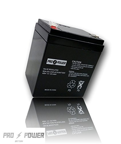 Pro Power 12V 4AH Replaces UltraTech SLA Alarm Battery UT1240 ISO9002 (Power Battery Tech)