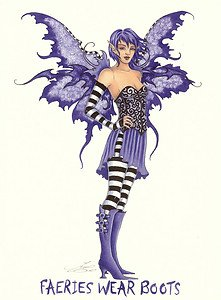 Faeries Wear Boots Amy Brown Open Edition 85quot X 11quot