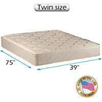 Dream Solutions USA Gentle Firm Twin 39x75x7 Mattress Only - Fully Assembled, Orthopedic, Good for your back, Long lasting and Superior Quality