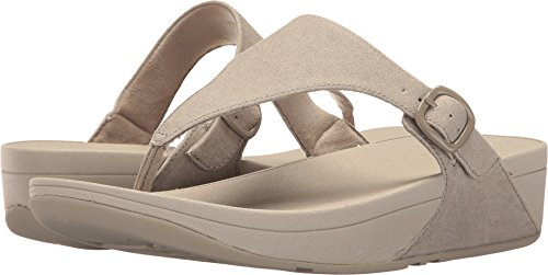 (FitFlop Women's The Skinny Canvas Toe Thong Flip Flop, Toasty Beige, 11 M US)