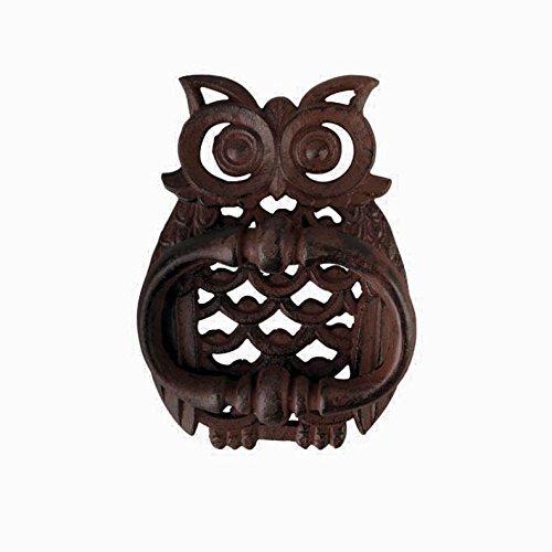 vy Cast Iron - Owl Hammer Door Knocker - Body Designed With Widows - (Rustic Bronze Finish - Has That Old Primitive Country Look)ct (Bronze Door Knocker)