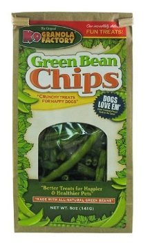Image of K9 Granola Factory Green Bean Chips Dog Treat, 5 Oz