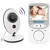 Wireless Baby Sleeping Monitor 2.4Ghztemperature Display Video Camera Monitoring Night Vision Nanny 2 Way Audio Talk