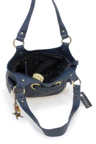 Umhängetasche - Leder - Marianne von Catwalk Collection - Große: B: H: T: cm Blau