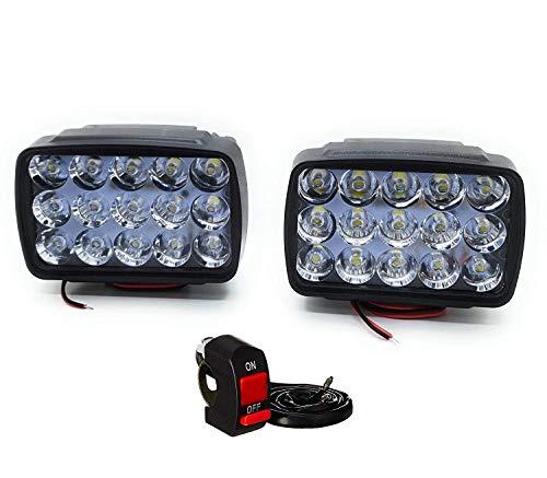 9 Led Bike LED Light Driving Headlights Fog Lamp Lighting Accessories Anti-Fog Spot Light Auxiliary Headlight with…