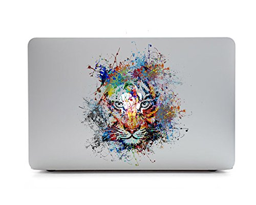 Tiger Macbook Laptops - iCasso Removable Vinyl Decal Sticker Skin for Apple MacBook Pro Air Mac 13