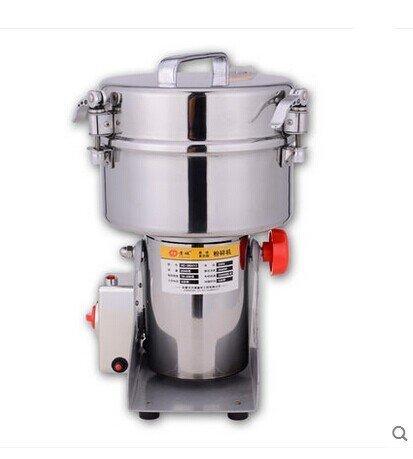 JIAWANSHUN 2000g Electric Grain Mill Cereal Spice Grinder HC-2000 for Herb Pulverizer Superfine Powder Machine 220V