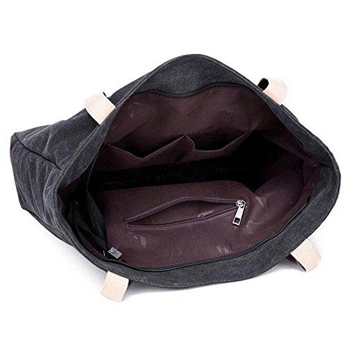 Modische Segeltuch-Schulter-Handtaschen-Einkaufstasche-Einkaufstasche-Geldbeutel, Grau